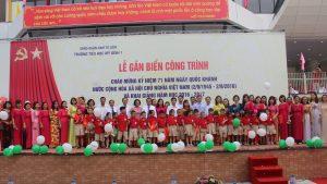 Khai giảng gắn biển công trình chào mừng kỷ niệm 71 năm Quốc khánh nước cộng hòa XHCN Việt Nam tại trường tiểu học Mỹ Đình 1